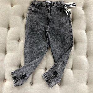 Vintage Alternating Currents Black Acid Wash Jeans